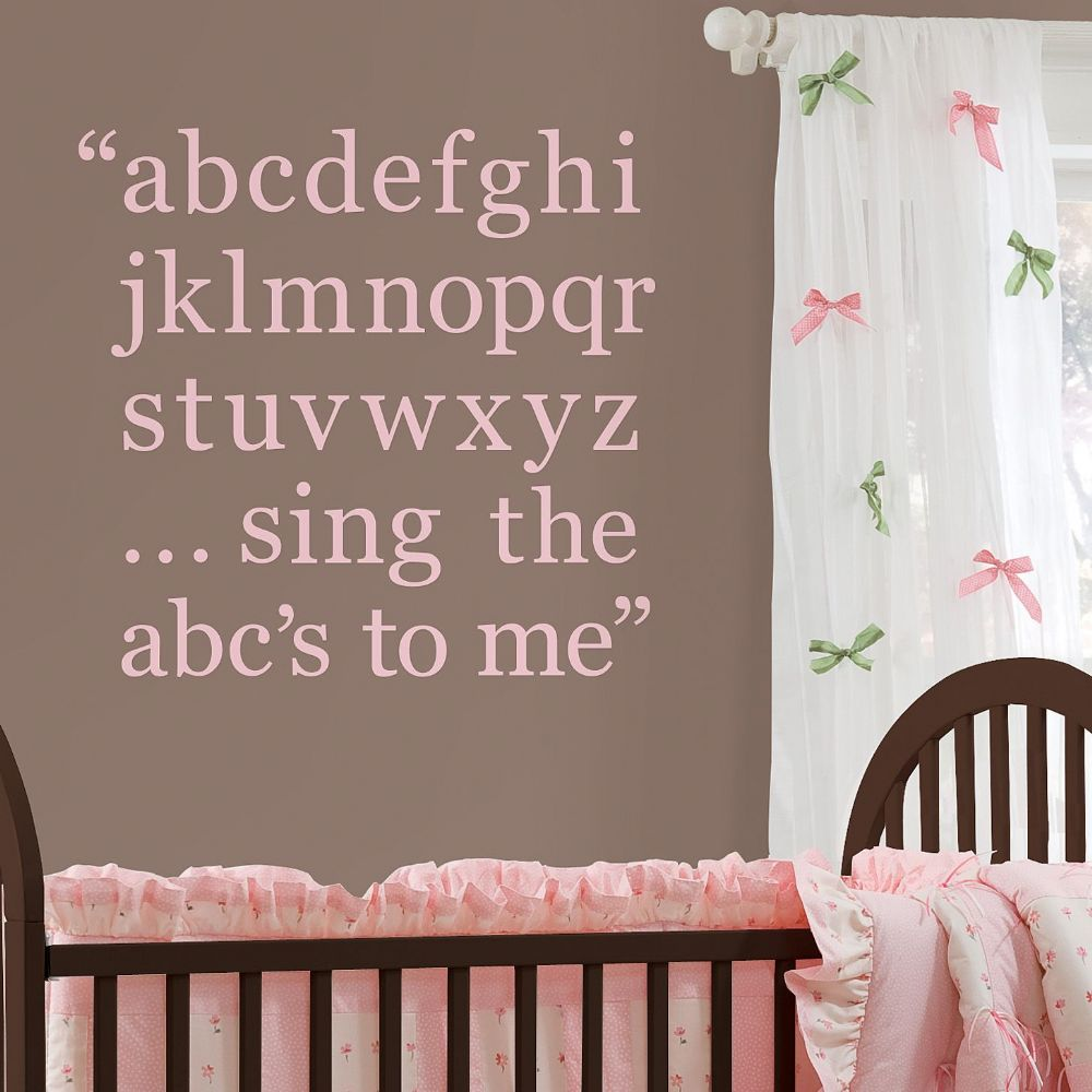 GiGi Pink Alphabet Wall Sticker Set